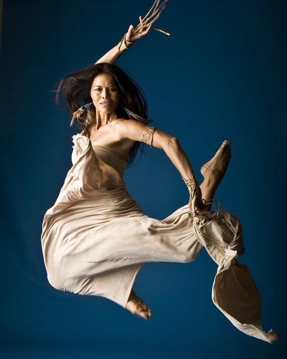Rulan Tangen. Native American dancer, choreographer, actress, and writer. Director of Dancing Earth.