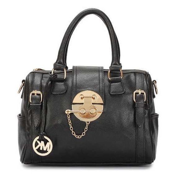 Michael Kors Soft Leather Medium Black Totes