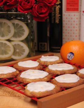 Fresh Orange Cookies Recipe -- made with finely chopped orange pieces and walnuts, a cookie jar favorite!