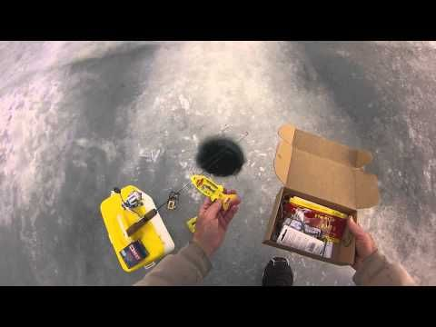 Best ever mystery tackle box on ice fishing lures tips and for Fishing mystery box