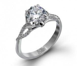 Zeghani Twisted Diamond Engagement Ring