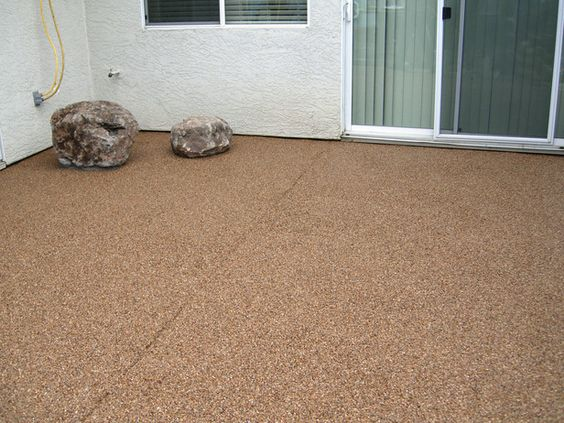Laying A Pebble Patio Epoxy Floor Larger And Porches