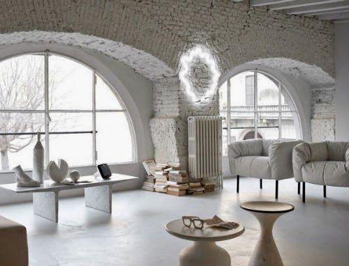 Weißes Wohnzimmer - leuchtend-grau.de