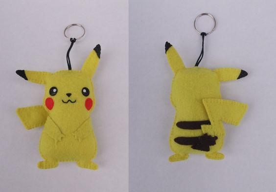 chaveiro pikachu - pokémon - encomendas pela minha página no facebook  https://www.facebook.com/Boutique-Geek-190519287960073/?fref=ts