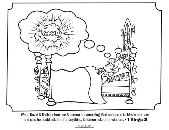 King 3, Bible coloring pages and Activities on Pinterest