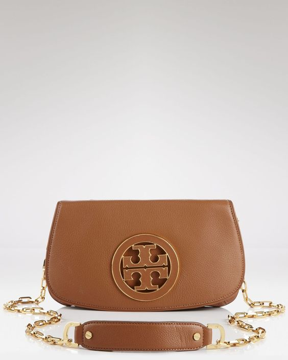 tory burch clutch  amanda logo