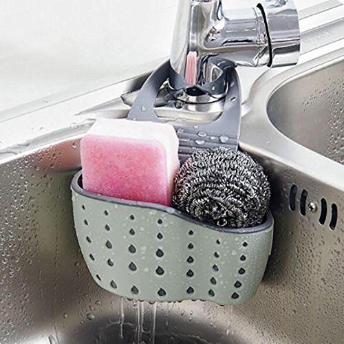 Ventouse éponge panier salle de bain accessoires de bain salle idées décoration accessoires