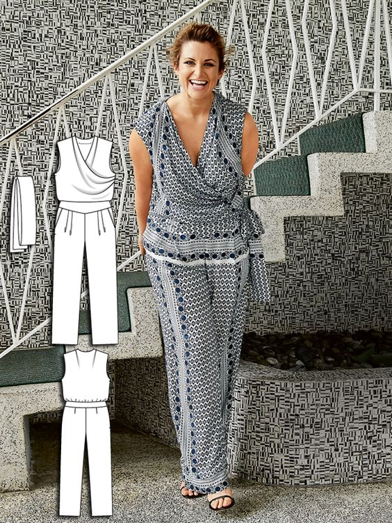 Easy ways to sew dresses like cocktail jumpsuit