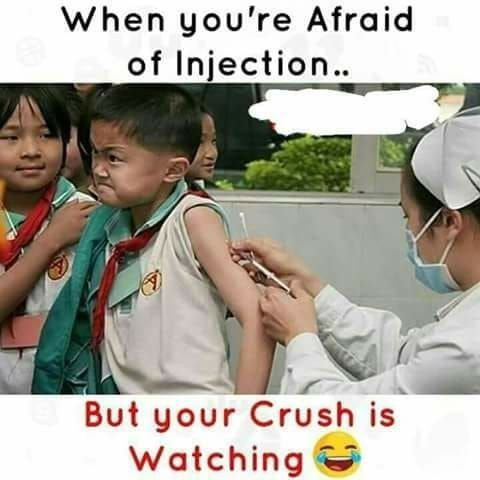 When Your Crush Is Watching Memes Funny Faces Girlfriend Humor Friend Jokes