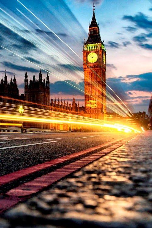 Espectacular imagen de Londres al atardecer