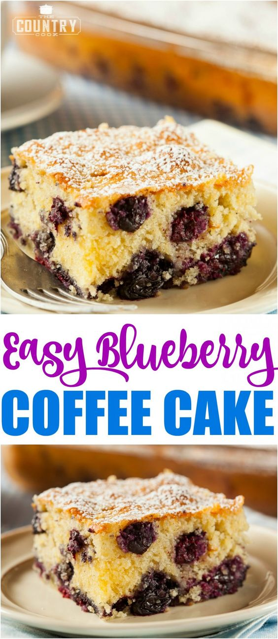 Easy Biscuit Blueberry Cake Video The Country Cook Recipe Bisquick Coffee Cake Recipe Coffee Cake Recipes Coffee Cake