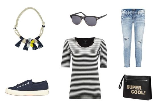 stripe outfit collage