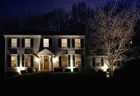 Led Tree Spotting Lighting, especially at Christmas time by Green Outdoor Lighting
