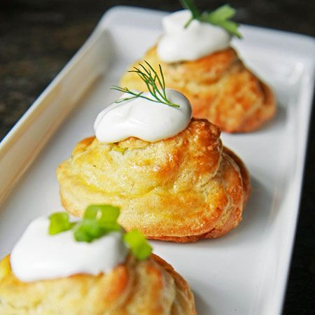 Gougeres...light and airy cheese puffs based on version ...