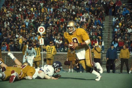 Tony Dungy as QB of the Minnesota Golden Gophers against Northwestern