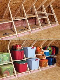 Clever attic storage - if we finish the attic, this is what should be behind the knee wall.: