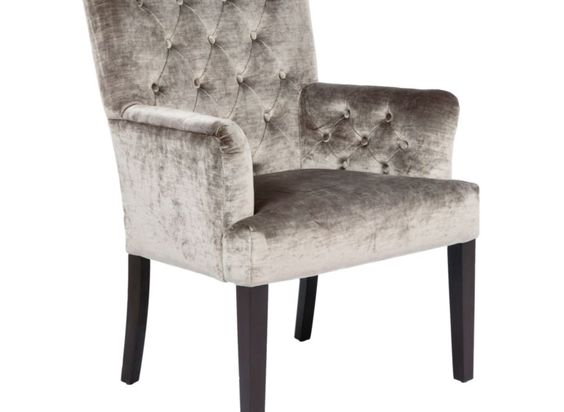 Lola arm chair pewter gold dining chairs dining room for Z gallerie dining room chairs