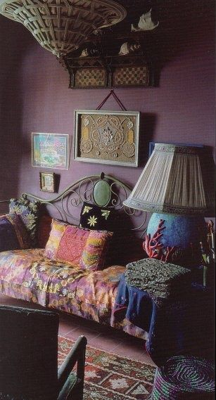 It's the color of the wall that gives this it's mysticism.  Simple and easily done for a Goddess on a budget.  :)