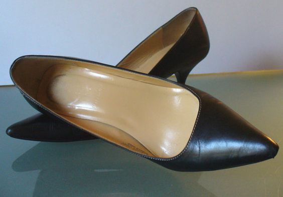 J. Crew Made in Italy Black Heeled Pumps Size by EurotrashItaly, $39.99