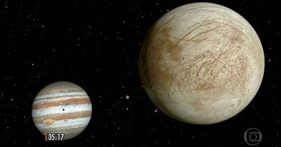 Nasa afirma ter encontrado possíveis evidências de vida em lua de Júpiter