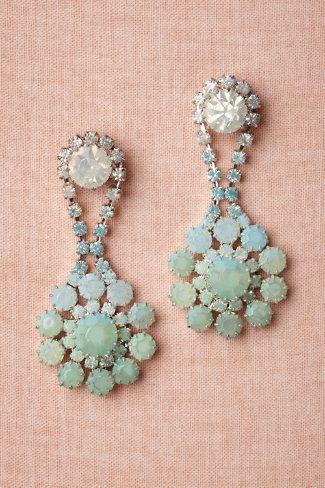 Sea green earrings bhldn.com #weddingaccessories