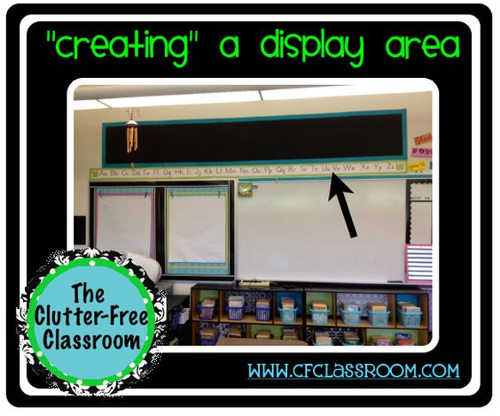 Clutter-Free Classroom: Name wall with 8X10 black and white pics of the kids