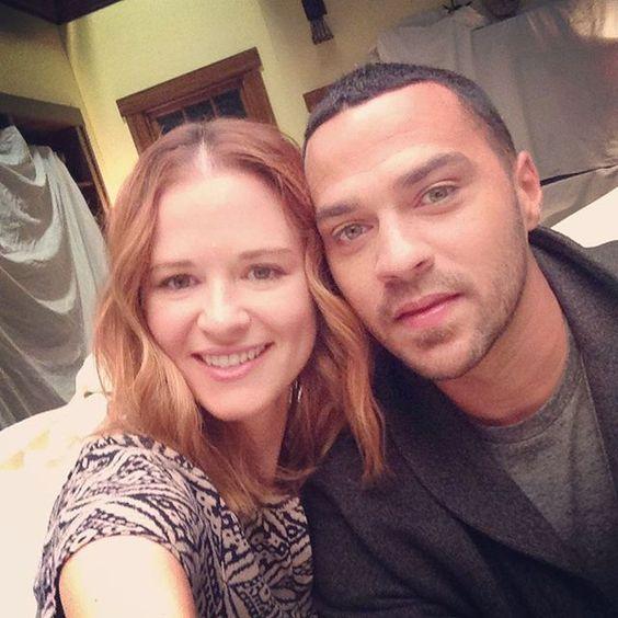 Sarah Drew and Jesse Williams