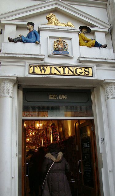 Twinings Tea Shop ar 216 The Strand. London, ENGLAND. One of my homes ;D // I want to go here! Maybe they'll stock the Camomile, Honey, & Vanilla tea that I can't find in Sainsbury's anymore!