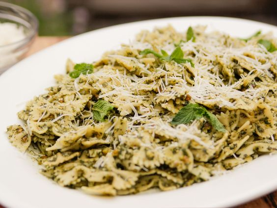 Mint Pesto Pasta recipe from Life's a Party with David Burtka via Food Network