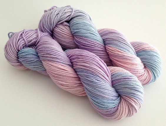 Hand Dyed Sparkle DK  Abbey  Dyed to Order by YarnLoftbyJulia, $23.00