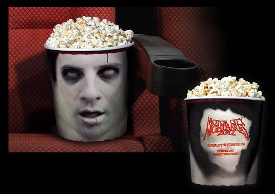 Zombie Popcorn packaging to promote a movie !