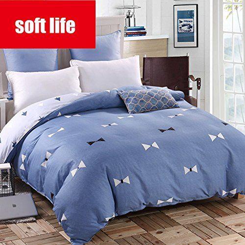 L J Cotton Quilt Cover Duvet Cover 100 Cotton Bedding Double Queen King Reversible 400tc Solid Color Comfortable Cotton Quilt Covers Quilt Cover Duvet Bedding
