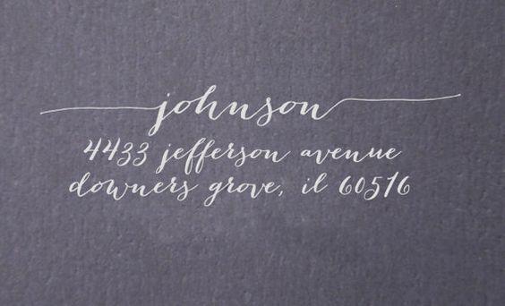 Return Address Stamp Great For Wedding Invitations