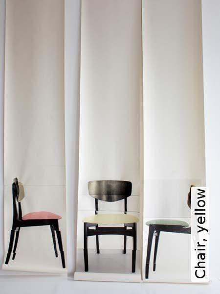 Tapete: Chair, yellow - TapetenAgentur