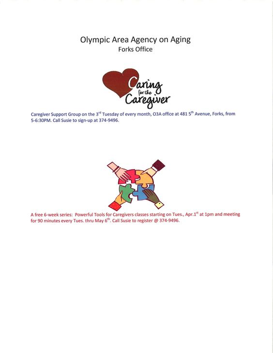 Forks Caregiver Support Group and Powerful Tools for Caregivers classes