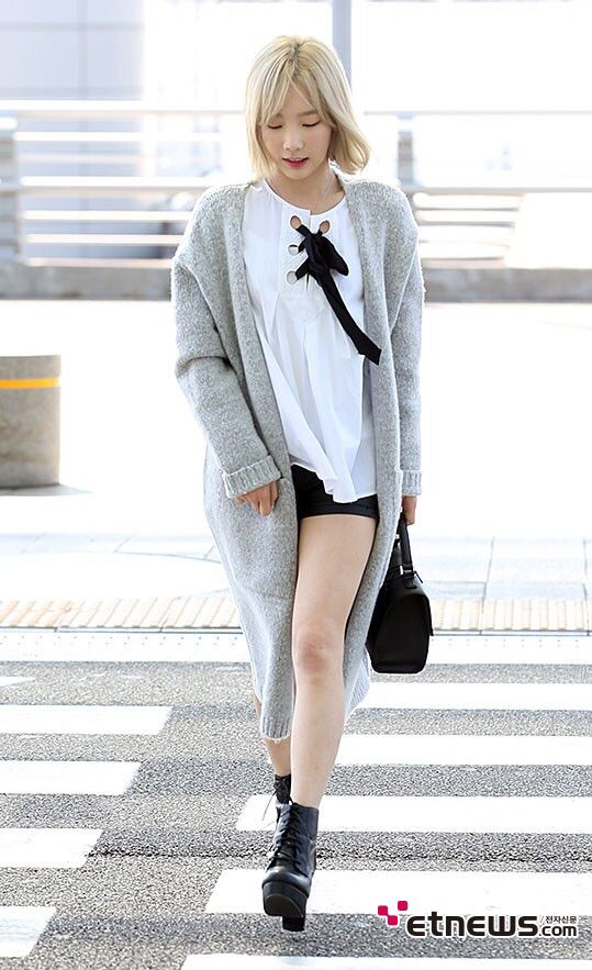 snsd taeyeon airport fashion style snsd airport fashion