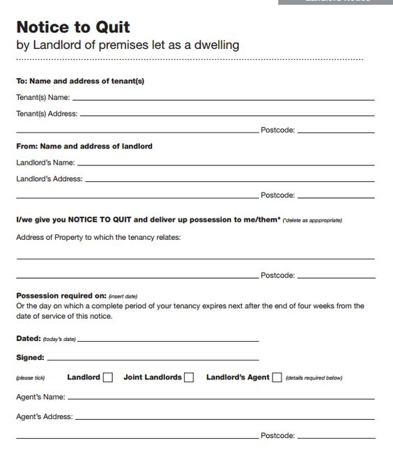 45 Eviction Notice Templates \ Lease Termination Letters Rental - eviction notice