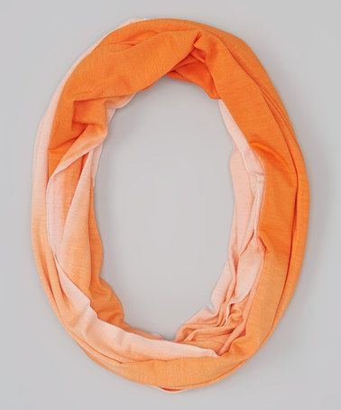 Look what I found on #zulily! Orange Dip-Dye Infinity Scarf #zulilyfinds
