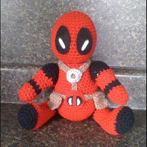 Deadpool Knitting Pattern : Deadpool Plushie Originals, Patterns and Etsy
