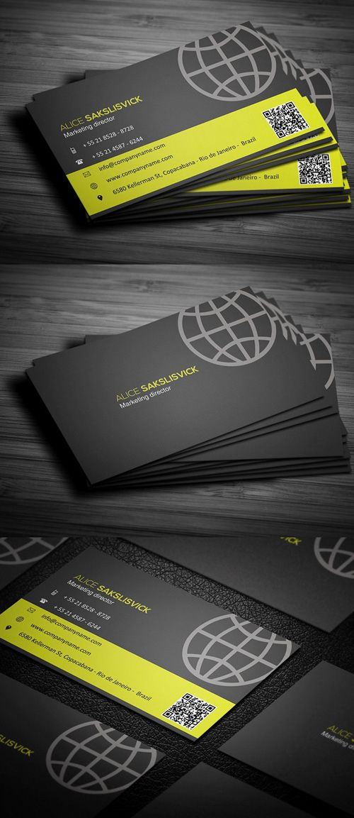 Professional Business Card Design Creative Design Pinterest - sample personal financial statement example