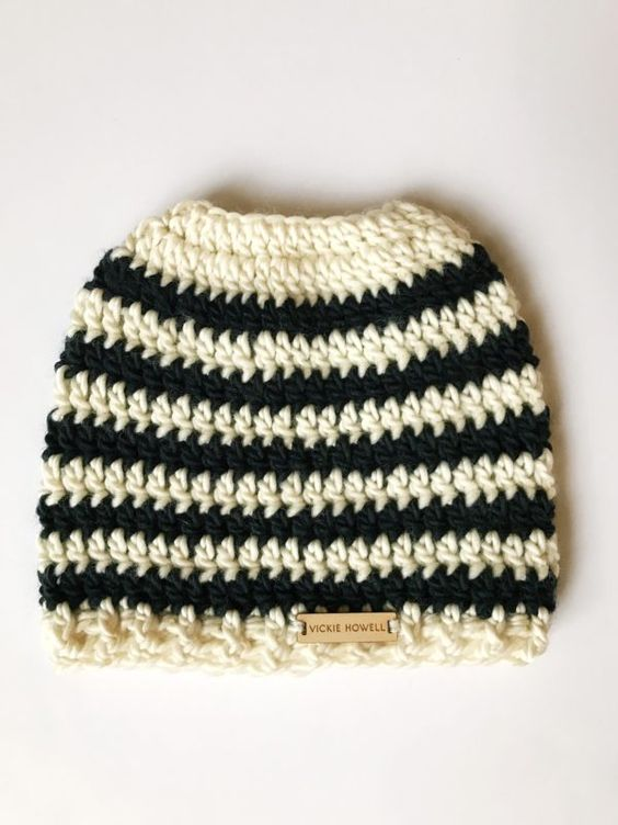 Crochet Pattern Image Converter : Messy Bun Beanie: How to Convert (Almost) Any Hat Pattern ...