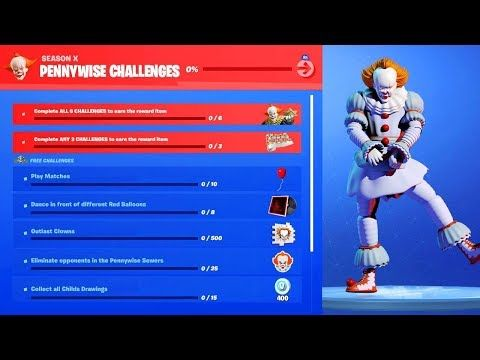 Roblox Pennywise Game New Free Pennywise Items Fortnite X It Chapter 2 Youtube Pennywise Pennywise The Dancing Clown Fortnite
