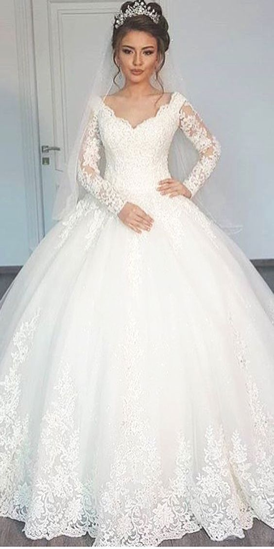 Hairstyles For Medium Length Hair Fancy Ideas Ball Gowns Wedding Wedding Dress Long Sleeve Ball Gown Wedding Dress