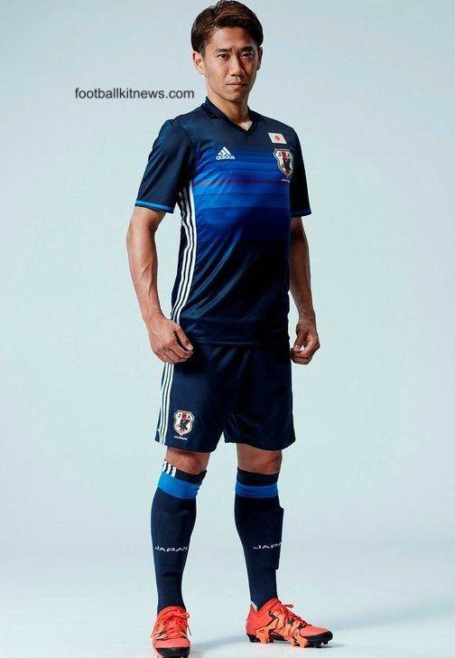 New Japan Soccer Jersey 2016- Adidas Japanese Samurai Blue ...