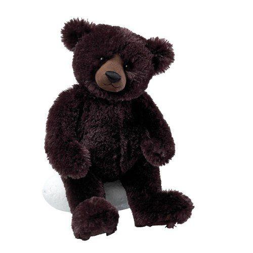 """Gund Matisse Very Dark Brown 14"""" Bear Plush"""