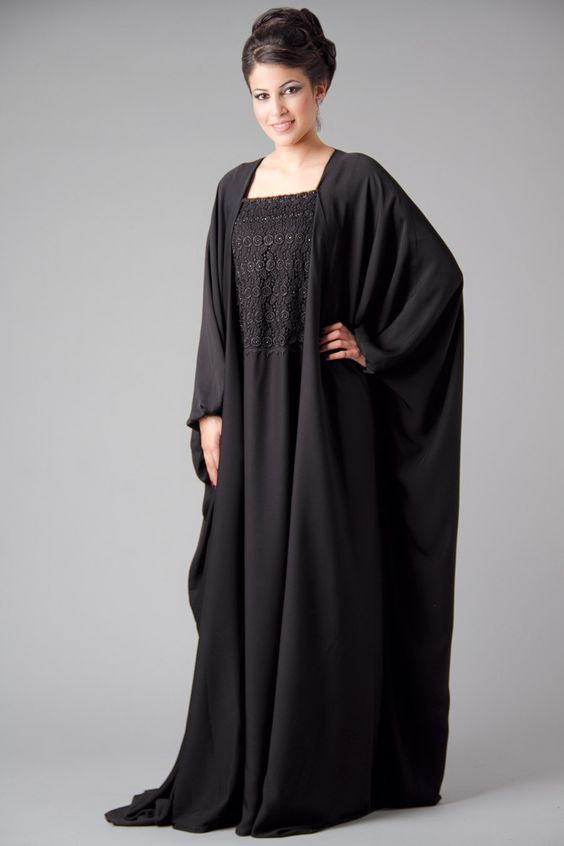 Shoulder cut abaya