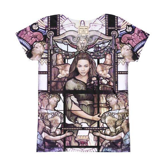 T-shirt manches courtes imprimé vitraux femme ELEVEN PARIS