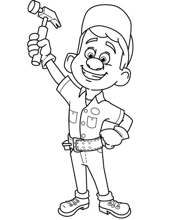 Wreck it Ralph coloring page fix it Felix   Painting ...