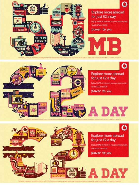 Infographic poster campaign for Vodafone | Infographic, Maps, and ...