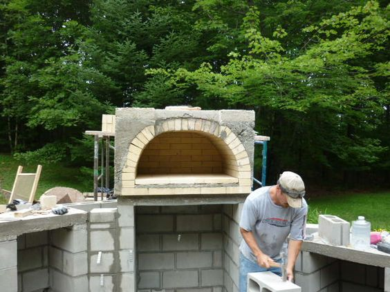 Outdoor cooking pits we are building a woodfired brick and stone bake oven with granite - Outdoor stone ovens ...